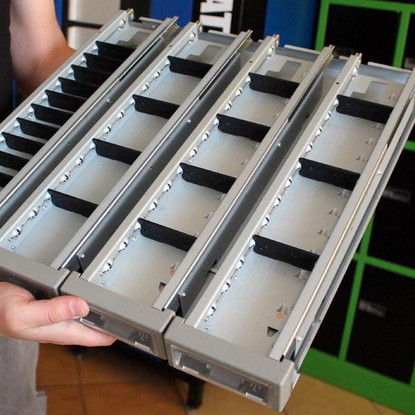 prezentacja rodzaju szuflad w automacie