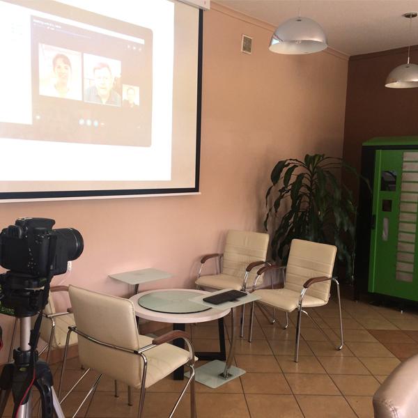 ekran umożliwiający wyświetlanie wideo